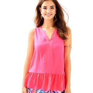 NWOT Lilly Pulitzer Gramercy Pink Tank Top